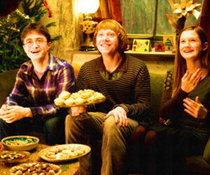 harry potter, ginny weasley, and ron weasley image