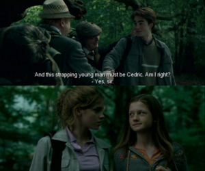 harry potter, cedric diggory, and ginny weasley image