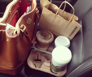 starbucks, bag, and coffee image