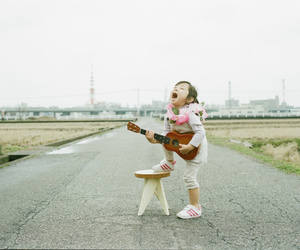child, music, and guitar image