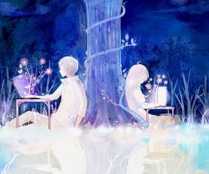 anime, boy, and blue image
