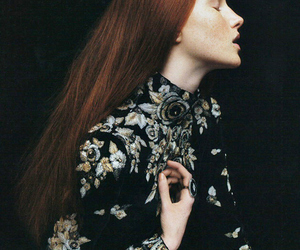 fashion, model, and red hair image