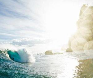 ocean, beach, and surf image