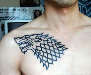 stark, game of thrones, and tattoo image