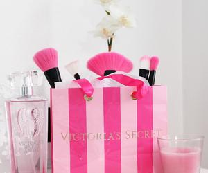 pink, Victoria's Secret, and makeup image