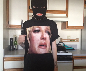 brittany spears, lol, and ski mask image