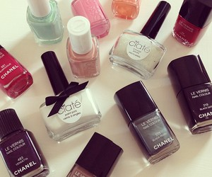 nails, chanel, and cosmetics image