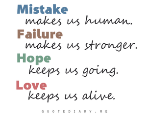 hope, mistakes, and quote image