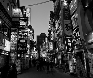 black and white, south korea, and korea image