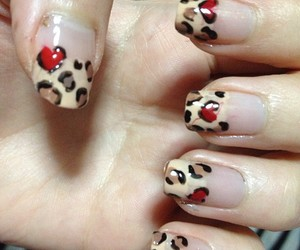 diy, heart, and leopard image