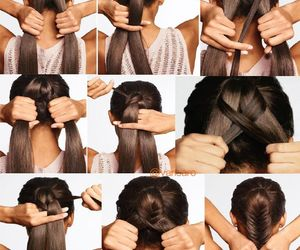 fishtail, hair, and tail image