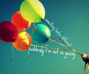balloons, ingrid michaelson, and typography image