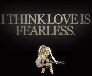 fearless, Taylor Swift, and love image