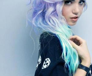 haj, hair, and kék haj image