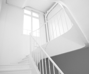 stairs and white image