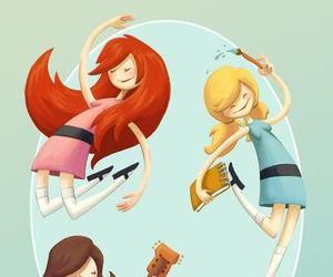 girls, illustration, and ilustracao image
