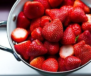 food, photography, and strawberry image