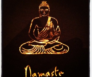 buda, namaste, and dark image