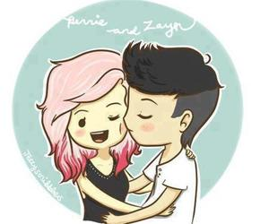 one direction, zerrie, and zayn malik image