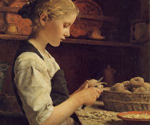 1910, art, and albert anker image