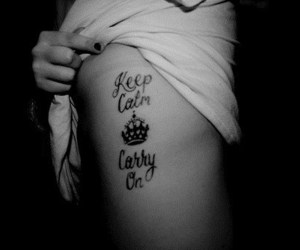 tattoo, keep calm, and carry on image