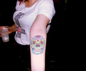 tattoo, mexican skull, and skull image