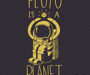 planet, pluto, and yellow image
