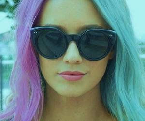 hair, girl, and sunglasses image