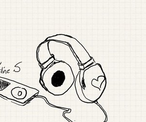 ipod, music, and bamboo drawing image