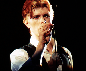 davidbowie, the thin white duke, and microphone image