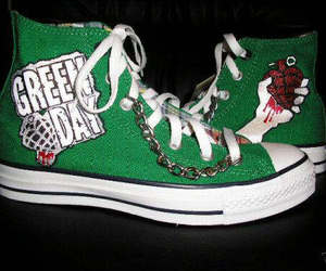 green day, converse, and green image
