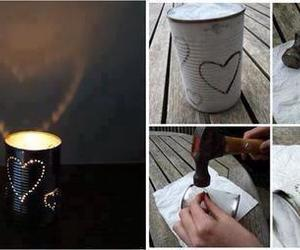 diy, heart, and light image