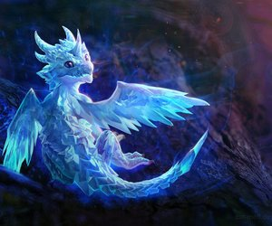 dragon, ice, and art image