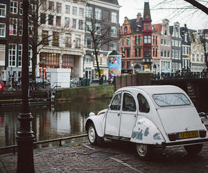 car, vintage, and amsterdam image
