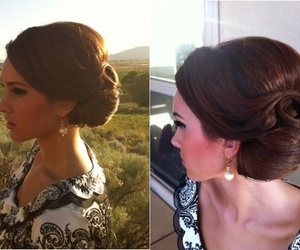 Prom, prom hair, and vintage image