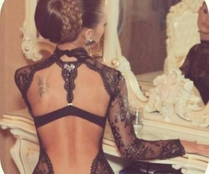 back, lace, and black image