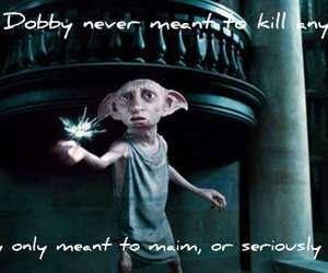 harry potter, dobby, and deathly hallows image