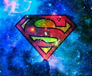 superman, galaxy, and blue image