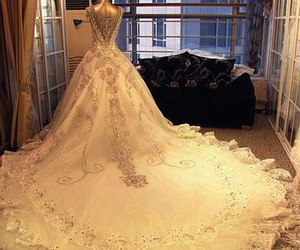 pretty and wedding dress image