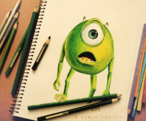 drawing, green, and monster image