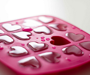 pink, heart, and ice image