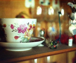 cup, flower, and vintage image