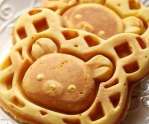 food, waffle, and bear image