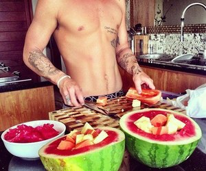 boy, fruit, and sexy image