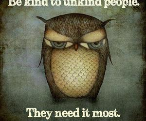 quotes, kind, and owl image