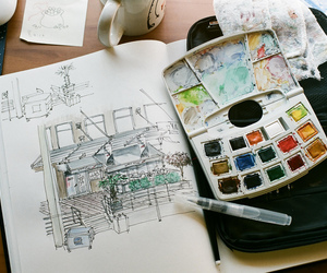 art, vintage, and drawing image
