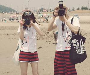 couple, camera, and photography image