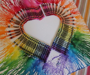 heart, colors, and crayon image
