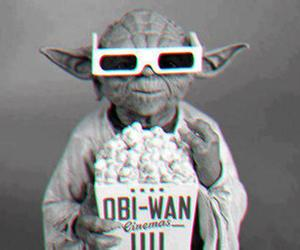 yoda, star wars, and popcorn image