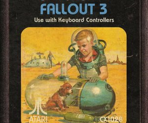 atari, cartridge, and fallout 3 image